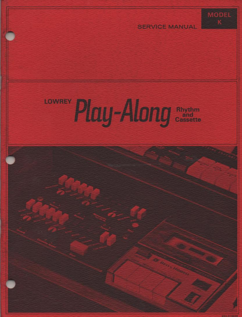 K Play Along Cassette Service Manual
