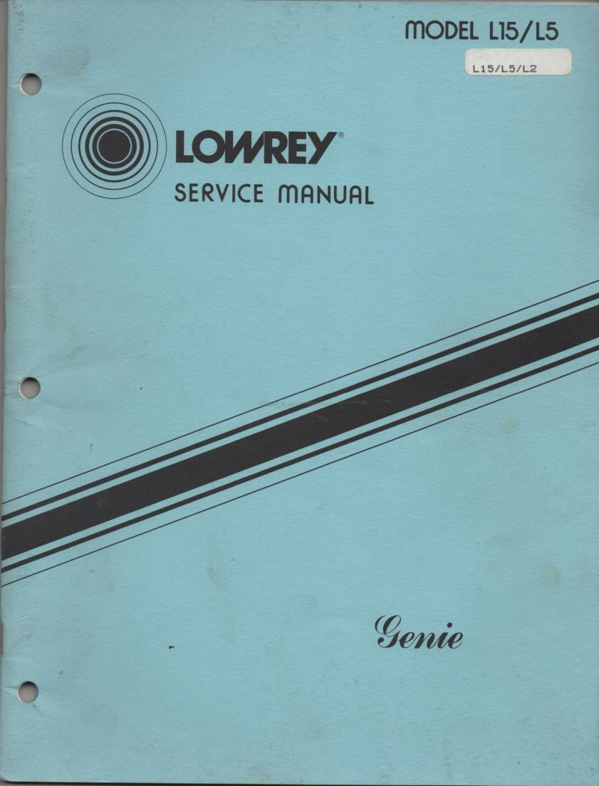 L5 L15 Genie Organ Service Manual
