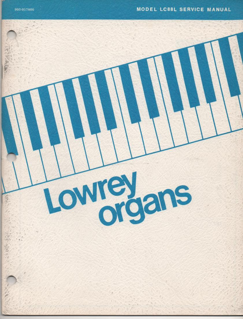 LC88L Organ Service Manual