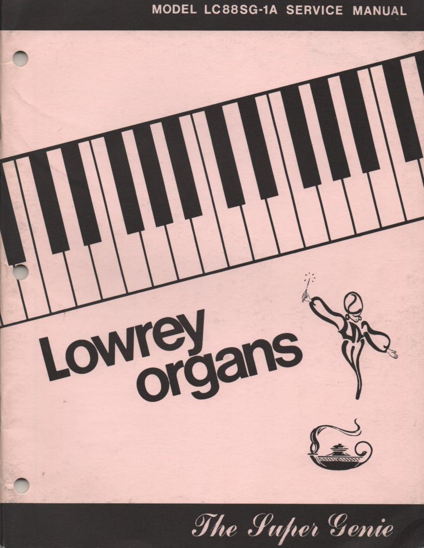 LC88SG-1A Super Genie Organ Service Manual