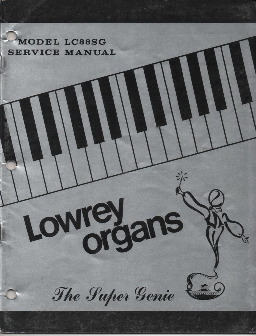 LC88SG Super Genie Organ Service Manual