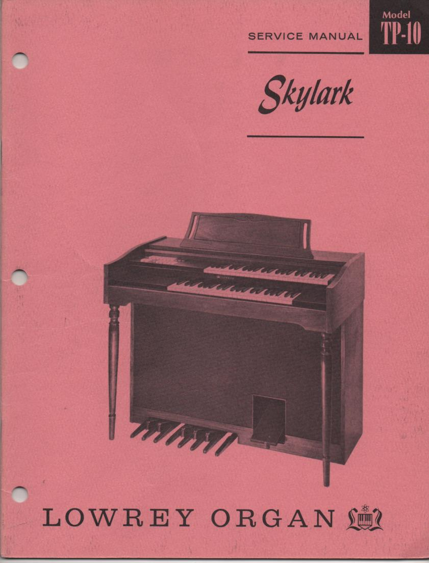 TP10 Skylark Organ Service Manual