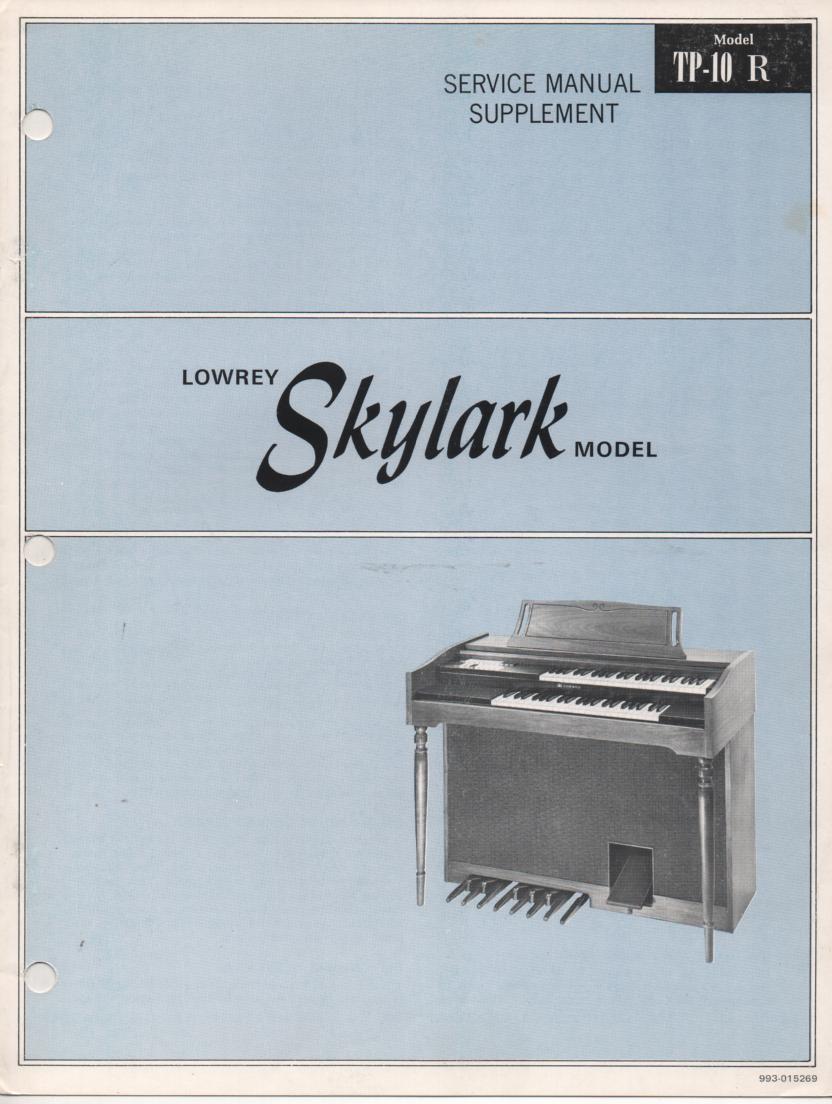 TP10-R Skylark Organ Service Manual