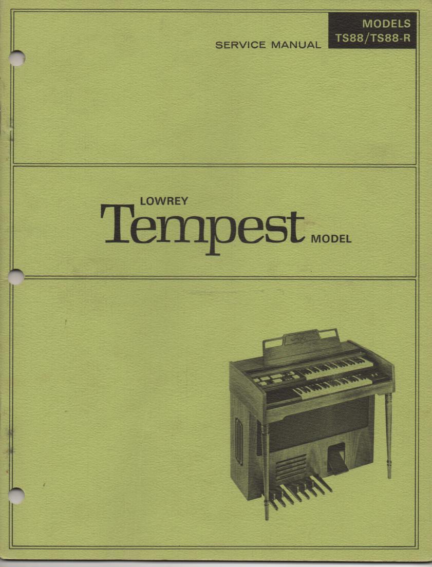 TS88 TS88-R Tempest Service Manual