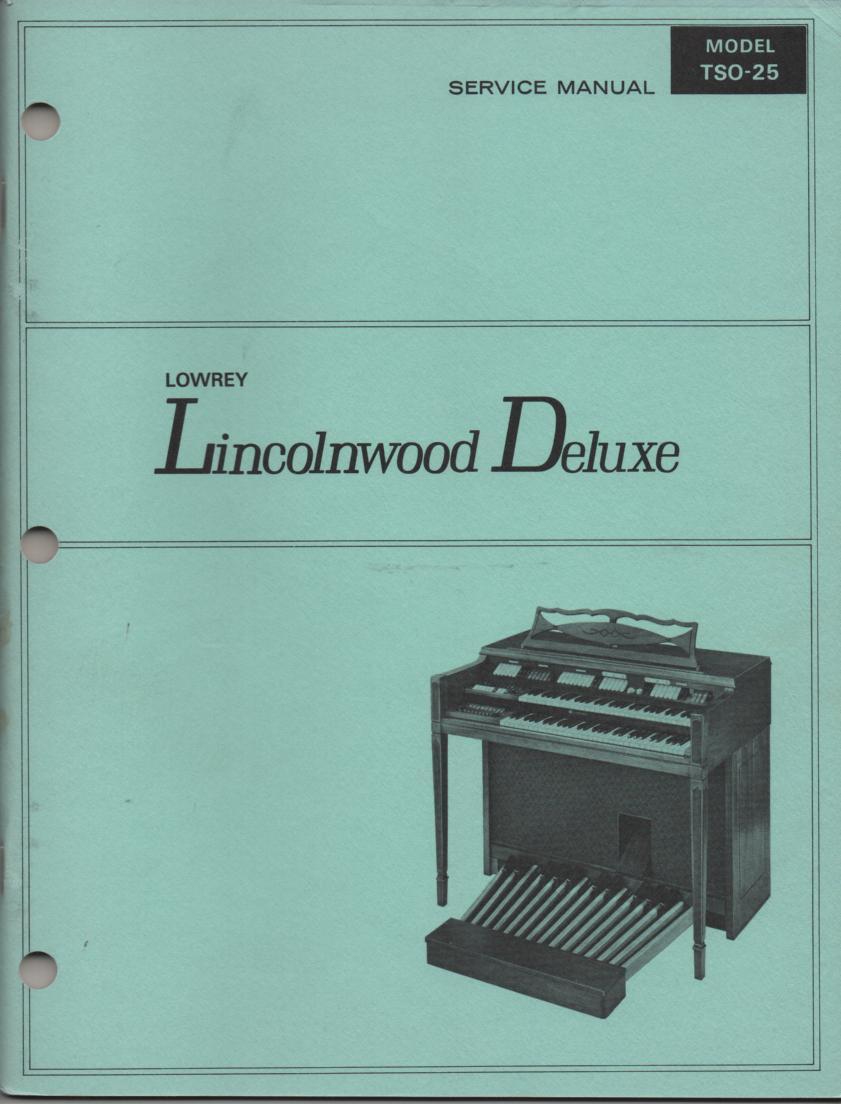 TSO-25 Lincolnwood Service Manual