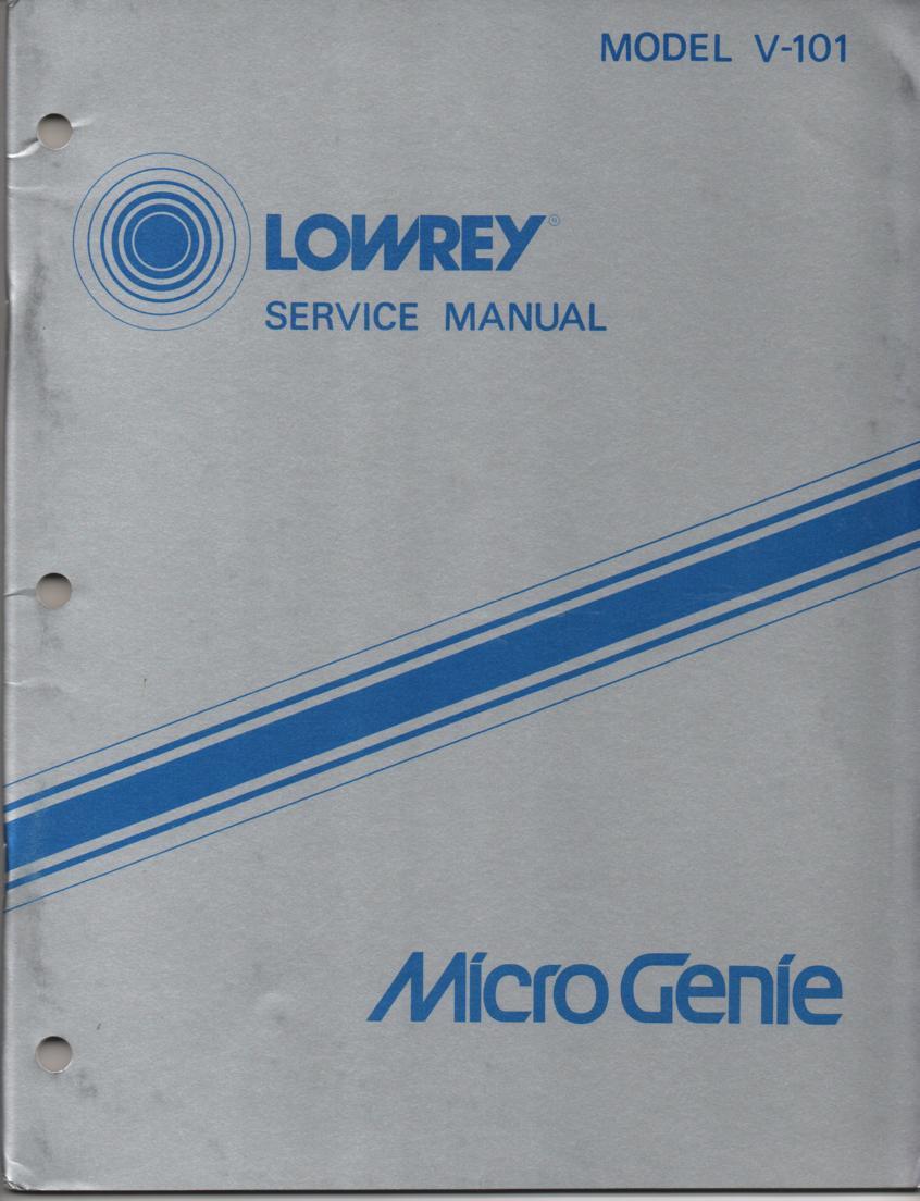 V101 Micro Genie Service Manual