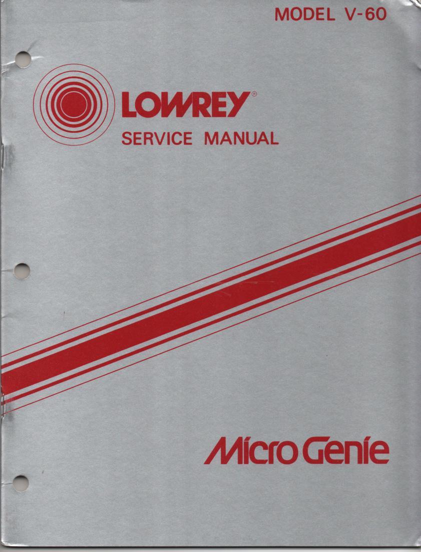 V60 Micro Genie Service Manual