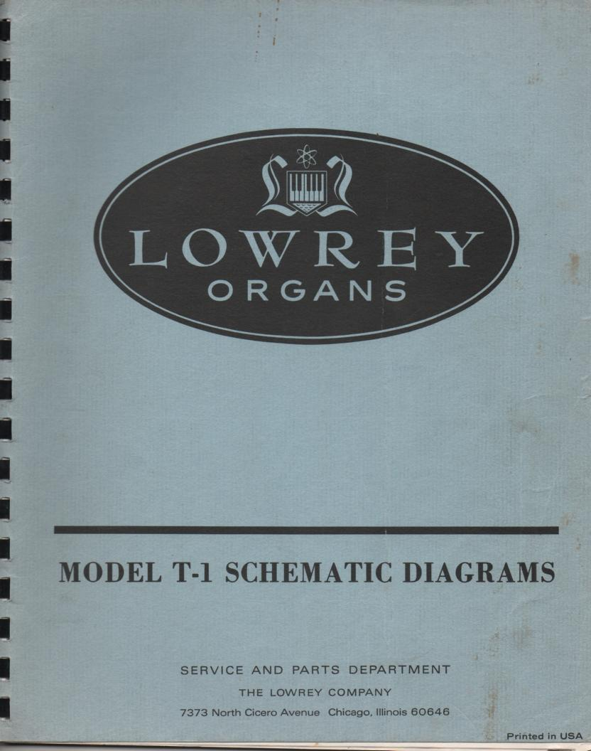 T-1 Transistor Portable Organ Service Manual