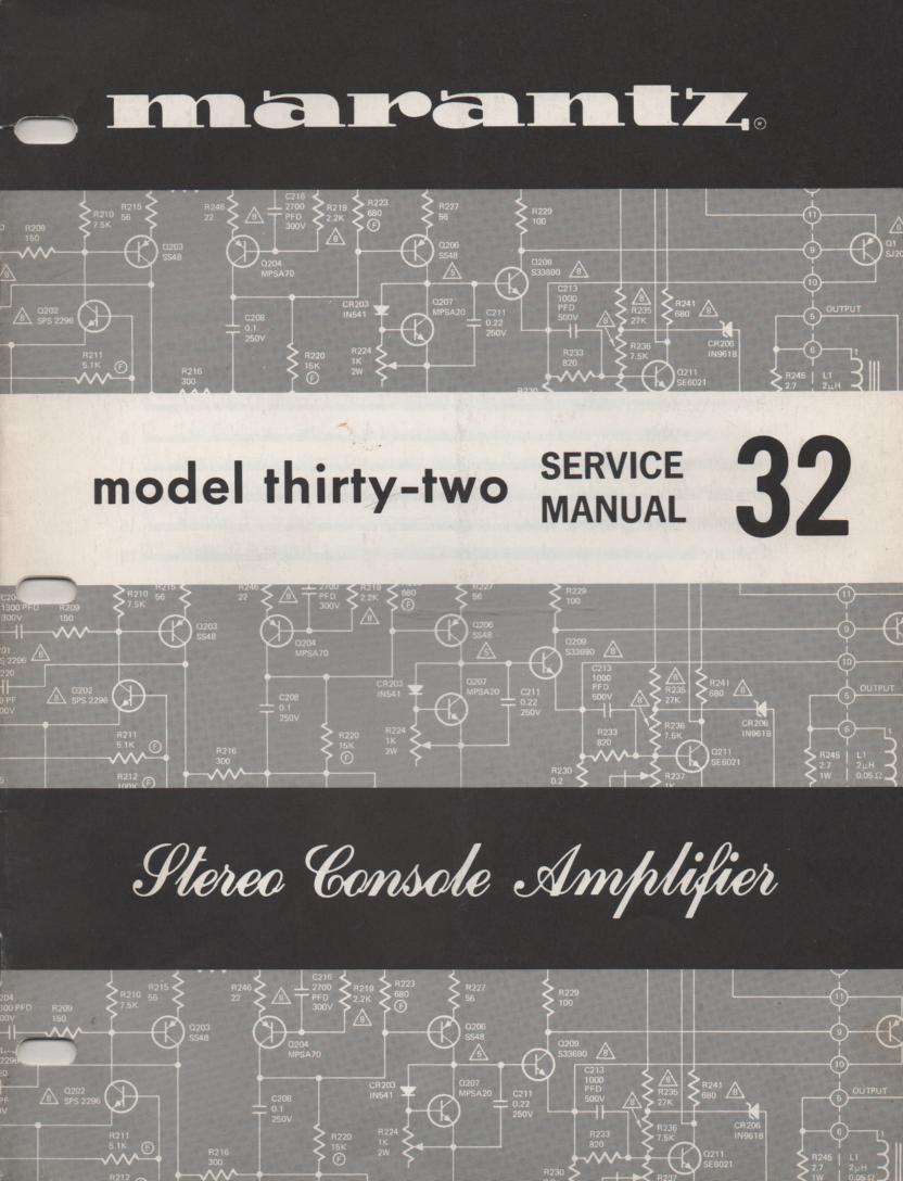 32 Console Amplifier Service Manual