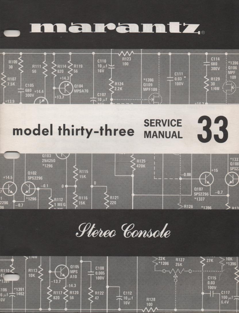 33 Console Amplifier Service Manual