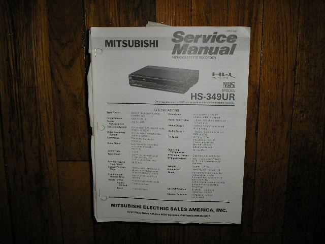 HS-349UR VCR Service Manual