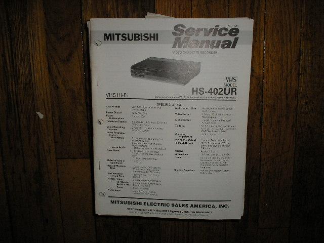 HS-402UR VCR Service Manual