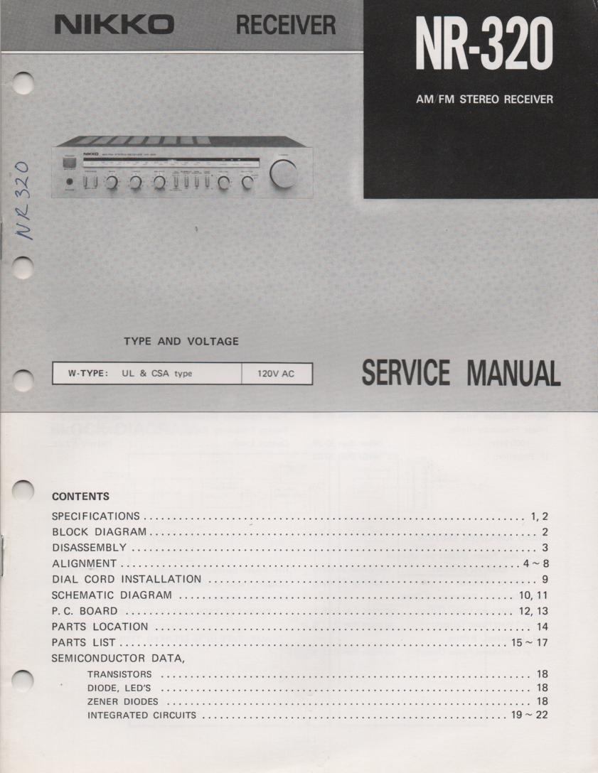 NR-320 Receiver Service Manual
