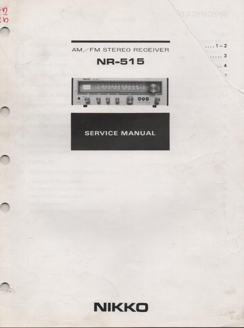 NR-515 Receiver Service Manual