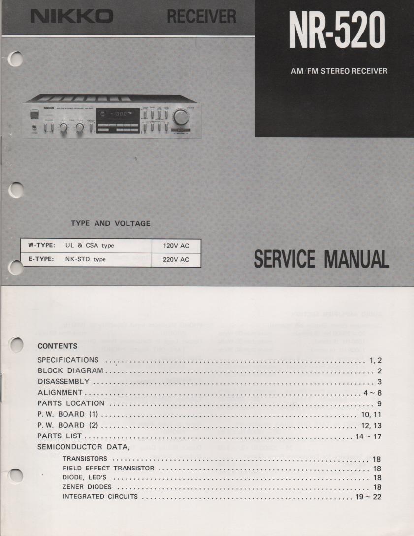 NR-520 Receiver Service Manual