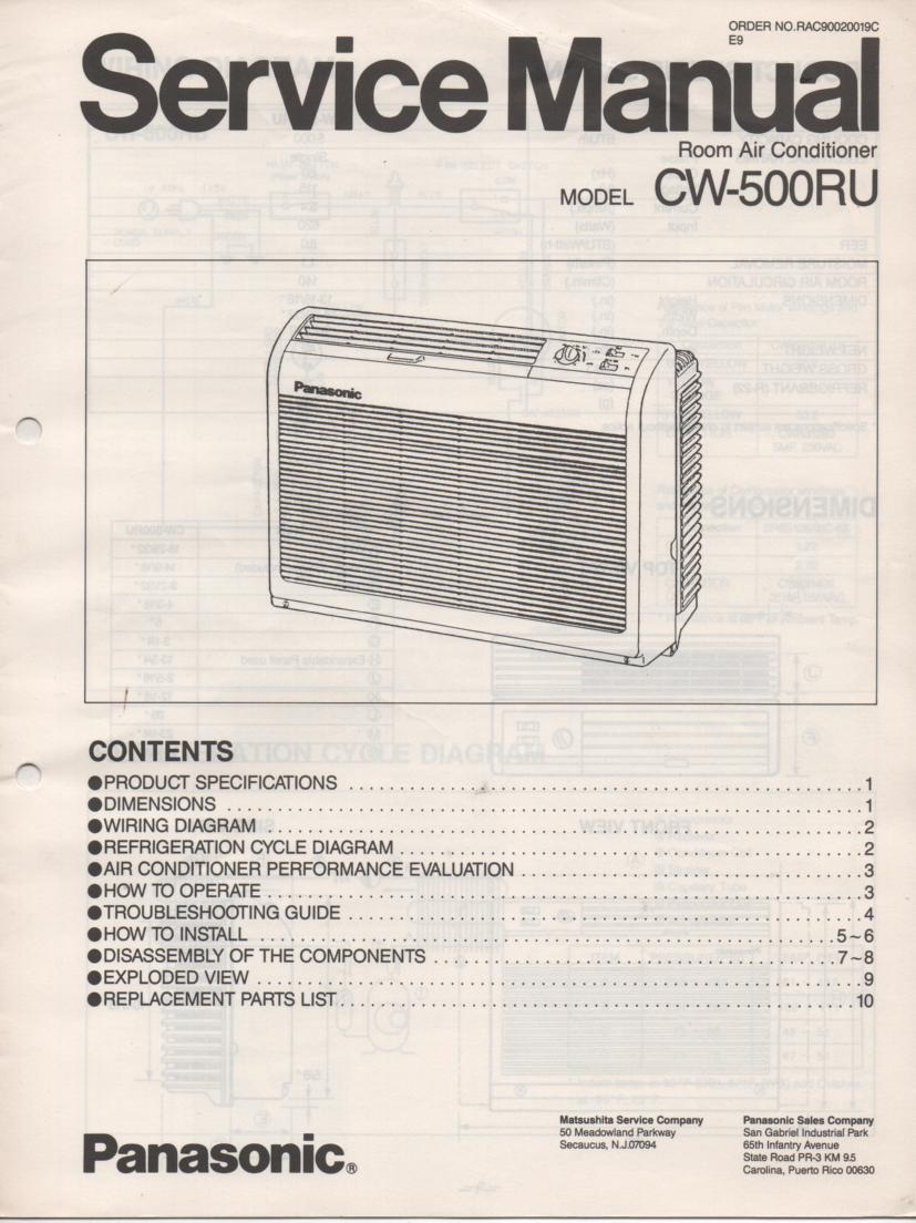 CW-500RU Air Conditioner Service Manual