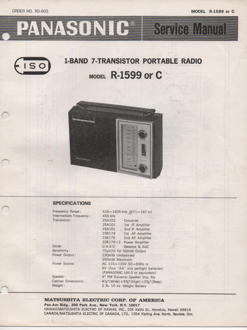 R-1599 R-1599C Radio Service Manual