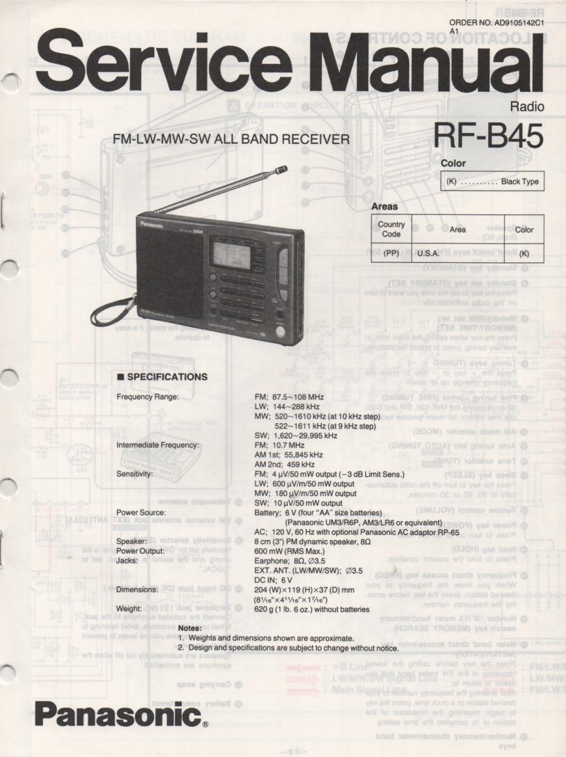 RF-B45 Multi Band Radio Service Manual
