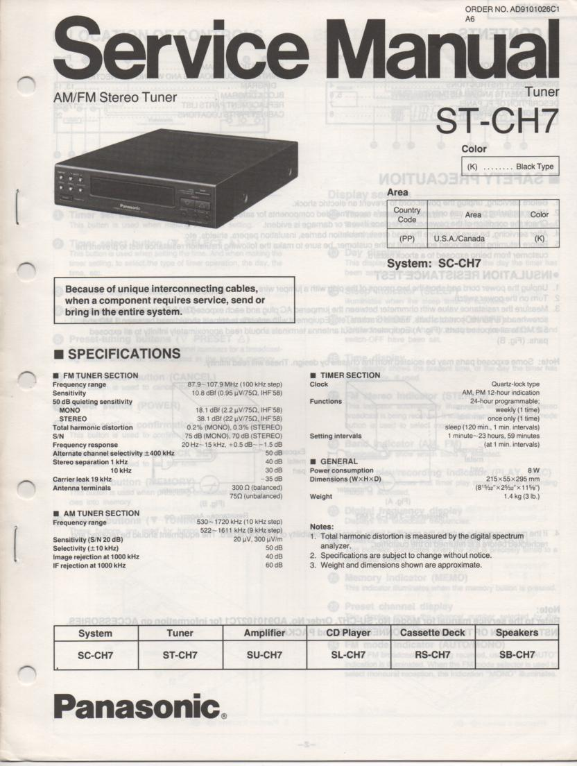 ST-CH7 Tuner Service Manual