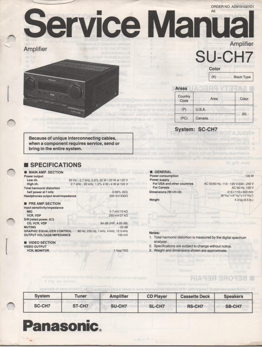 SU-CH7 Amplifier Service Manual