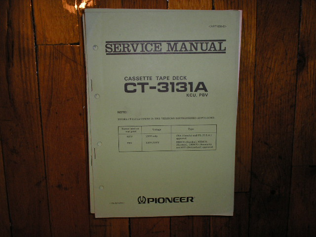 CT-3131A Cassette Deck Service Manual for KCU and PBV Types.