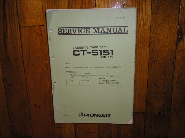 CT-5151 Cassette Deck Service Manual for KCU and PBV Types.