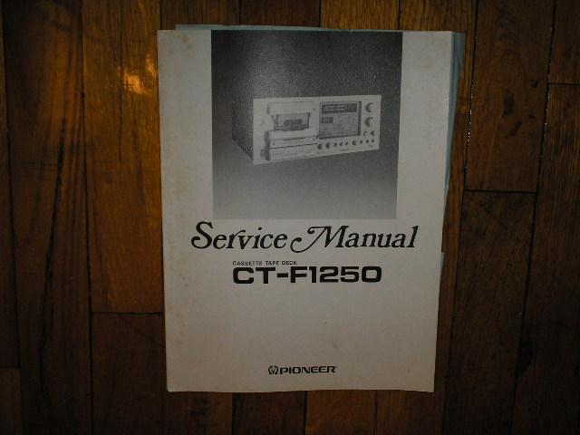 CT-F1250 Cassette Deck Service Manual