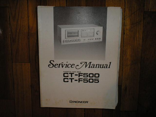 CT-F500 CT-F505 Cassette Deck Service Manual