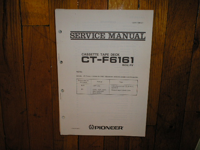 CT-F6161 Cassette Deck Service Manual for KCU and FV Types