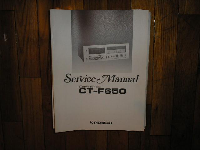CT-F650 Cassette Deck Service Manual