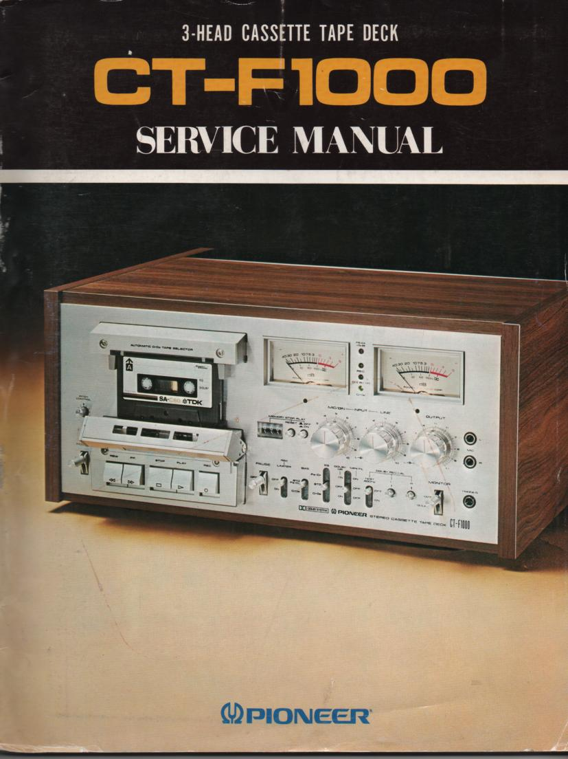 CT-F1000 Cassette Deck Service Manual 1. ART-251-0