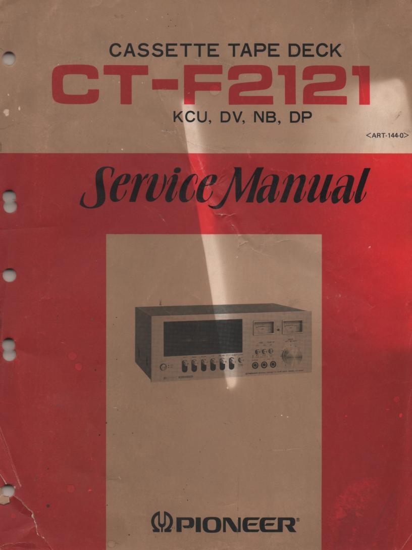 CT-F2121 Cassette Deck Service Manual     ART-144