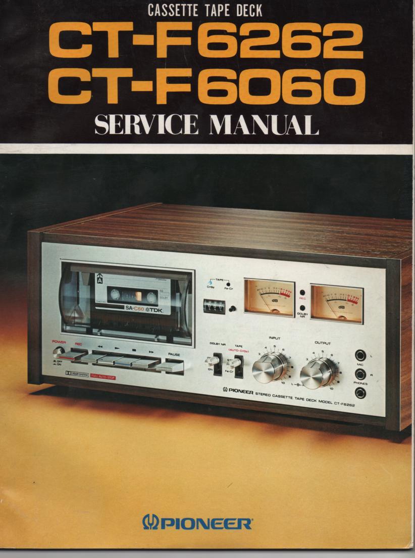 CT-F6060 CT-F6262 Cassette Deck Service Manual. *04 pages plus 2 large foldout schematics.