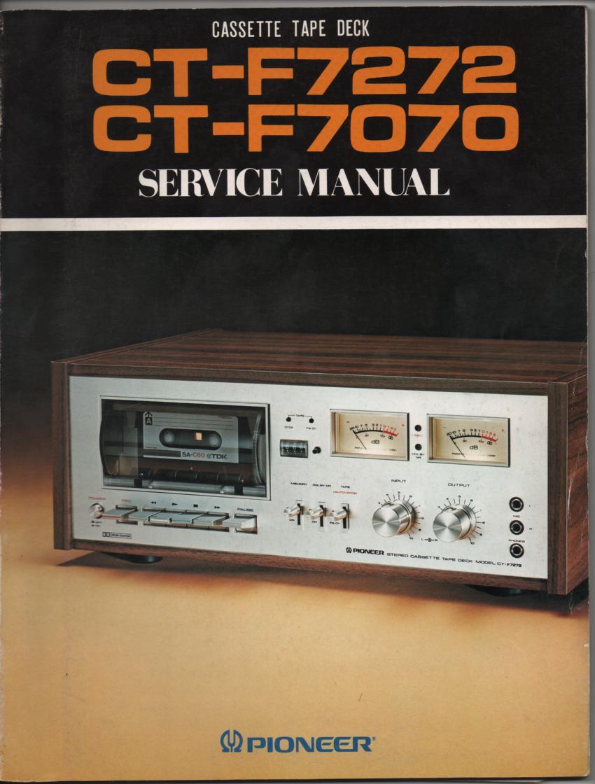 CT-F7070 CT-F7272 Cassette Deck Service Manual..90 pages plus 4 large foldout schematics.