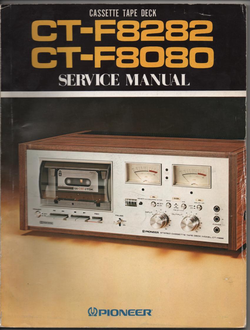 CT-F8080 CT-F8282 Cassette Deck Service Manual..130 pages plus 4 large foldout schematics.