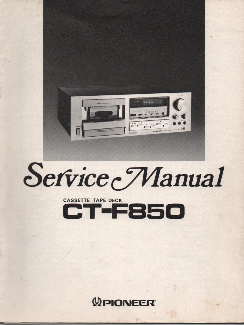 CT-F850 Cassette Deck Service Manual