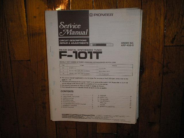 F-101T Tuner Service Manual