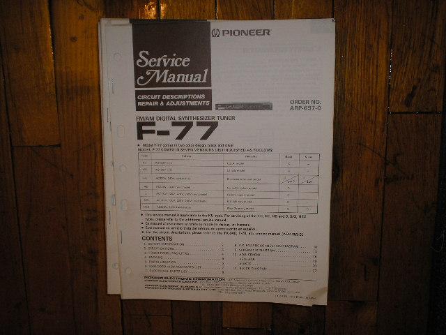 F-77 Tuner Service Manual