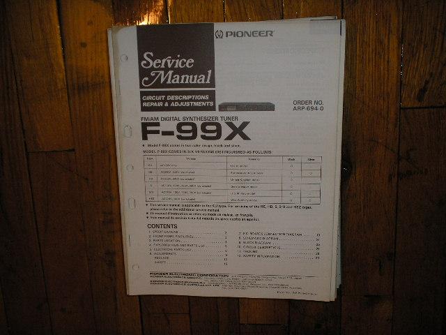 F-99X Tuner Service Manual