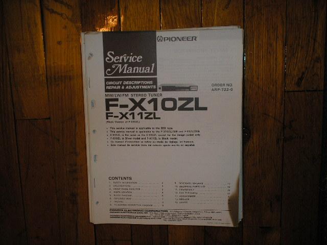 F-X10ZL F-X11ZL Tuner Service Manual