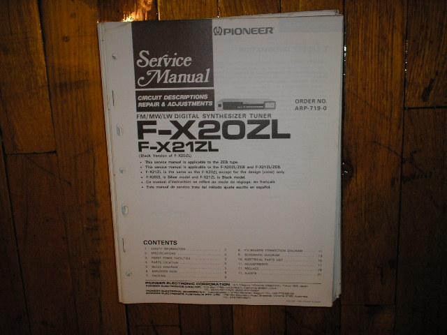 F-X20ZL F-X21ZL Tuner Service Manual