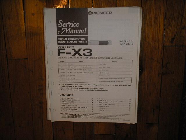 F-X3 Tuner Service Manual