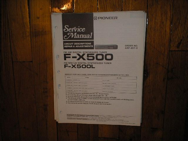 F-X500 F-X500L Tuner Service Manual