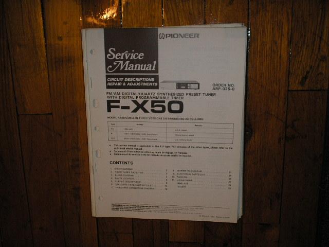 F-X50 Tuner Service Manual