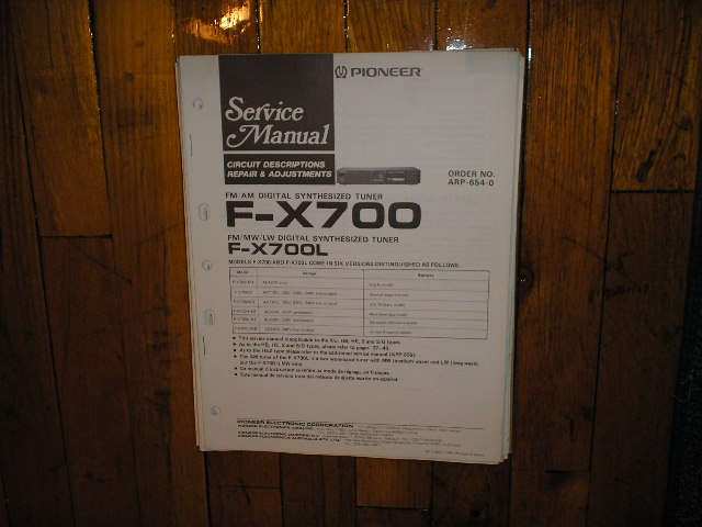 F-X700 F-X700L Tuner Service Manual