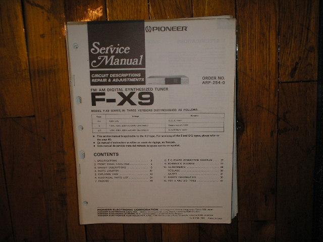 F-X9 Tuner Service Manual