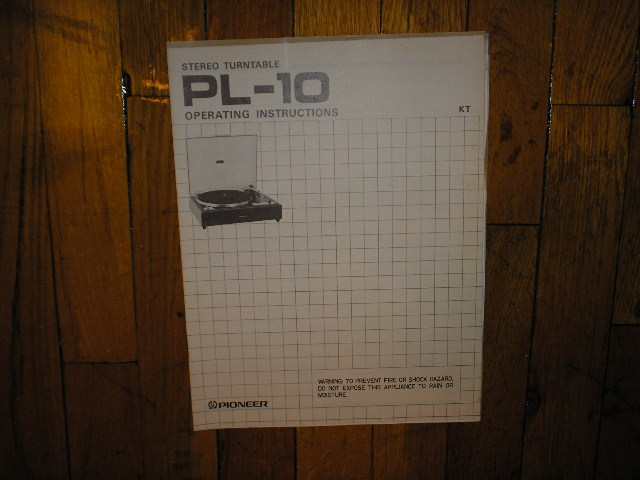 PL-10 Turntable Operating Manual