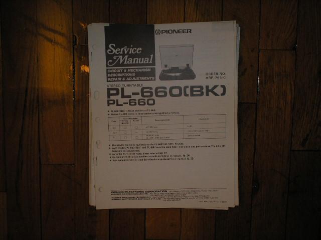 PL-660 PL-660BK Turntable Service Manual