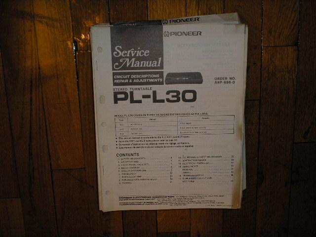 PL-L30 Turntable Service Manual