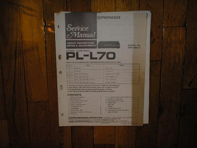 PL-L70 Turntable Service Manual